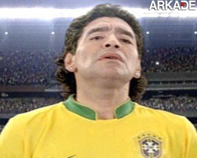 """Hacker troca página da A.F.A por imagem de """"Maradona Brasileiro""""."""