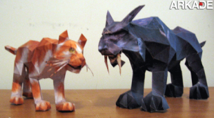 papercraft WoW cats 310x171 Incríveis papercrafts de World of Warcraft