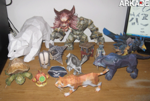 papercraft world of warcraft characters 310x209 Incríveis papercrafts de World of Warcraft