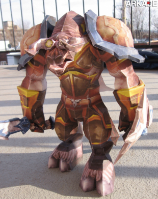 papercraft world of warcraft gward 310x391 Incríveis papercrafts de World of Warcraft