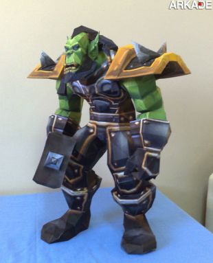 papercraft world of warcraft thrall 310x383 Incríveis papercrafts de World of Warcraft