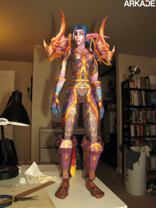papercraft wow character 310x413 Incríveis papercrafts de World of Warcraft
