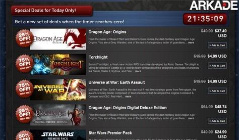 Apenas HOJE! Jogos da Steam com até 75% de desconto!
