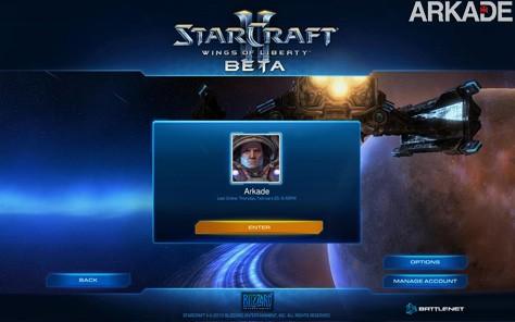 Estamos no beta de StarCraft II, em breve teremos novidades!