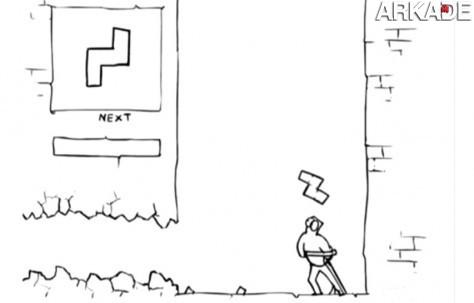 """Animação mostra como seria o """"confronto"""" Tetris vs Contra"""