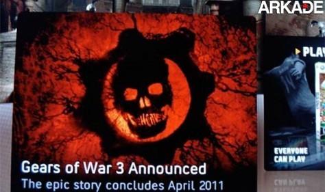Xbox Live deixa vazar anúncio de Gears of War 3