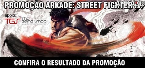 Resultado da Promoção Camiseta Street Fighter IV