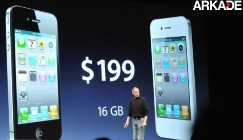 apple wwdc10 751 11 iPhone 4 é revelado oficialmente por Steve Jobs