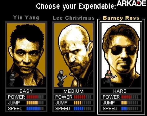 expendables01 Jogue um game 8 bits inspirado no filme Os Mercenários