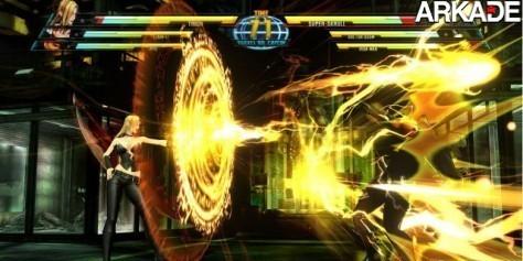 Evolução de gráficos psicodélicos em jogos de luta 2D