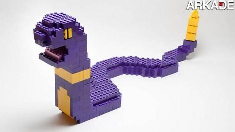 Temos que montar todos! Viciado recria Pokémons em Lego