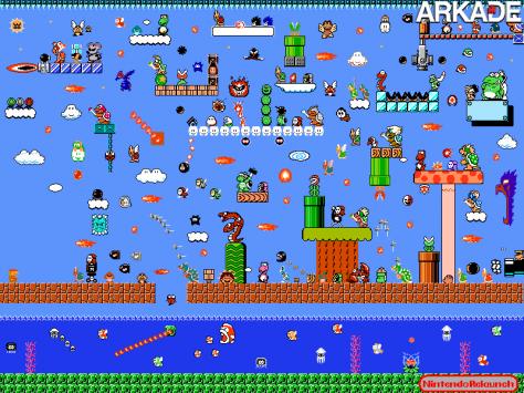 cultura Tirinha: todos os inimigos contra o Mario