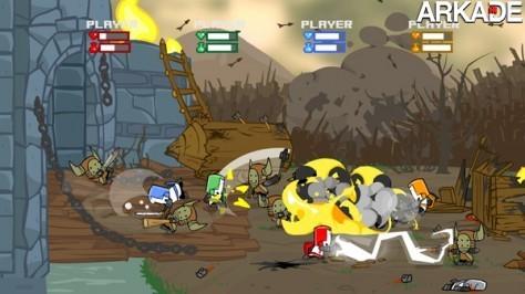 Castle Crashers mistura beat'em-ups, RPGs e humor