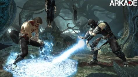 MK9 360 SubZeroVsCage GroundFreeze LivingForest WEB Mortal Kombat (PS3, X360) Preview: Fatality em alta definição