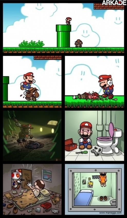 Tirinha: Mario, um encanador com sérios problemas psicológicos