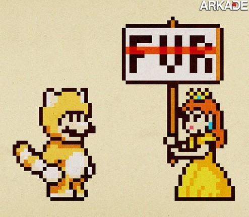 Tirinha - Mario pode ter problemas com ambientalistas