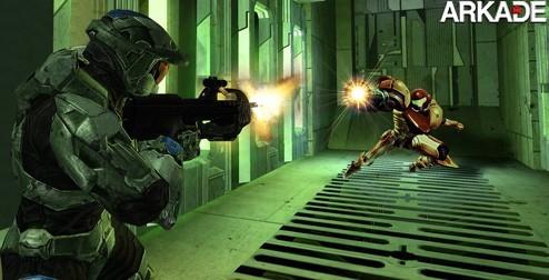 Samus e Master Chief lutam até a morte num fighter 2D de 16 bits