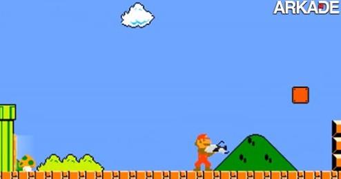 E se o Mario tivesse uma Portal-Gun no primeiro game Super Mario Bros?