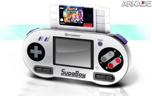 classicos SupaBoy: um Super Nes portátil retrô que roda os antigos cartuchos