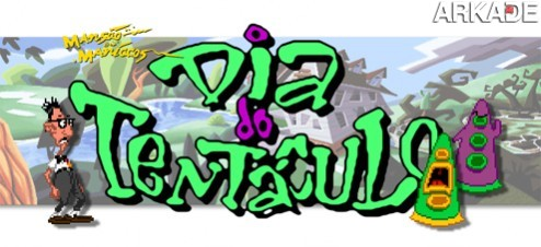 tentáculo Jogue o clássico Day of the Tentacle com legendas em português!