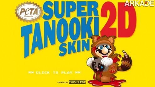 peta skins mario for his tanooki suit1 Nintendo e Super Mario se envolvem em polêmica com o PETA