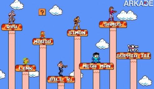 jcoas mario crossover 061 Que tal jogar Super Mario Bros. com outros personagens famosos?