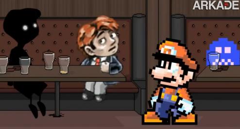O Mario não é querido por personagens de jogos independentes