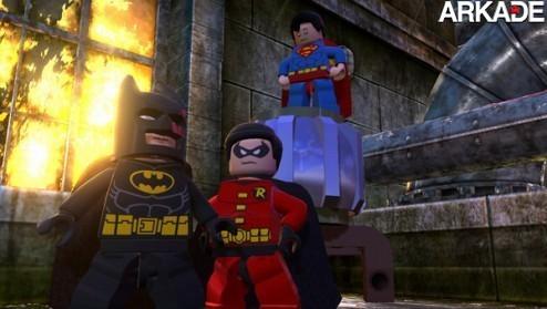 Super-Homem, Batman e Robin em ação no trailer de Lego Batman 2