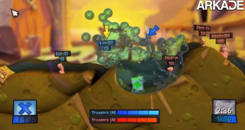 Worms Revolution: novo jogo terá belo visual 2.5D, veja o trailer