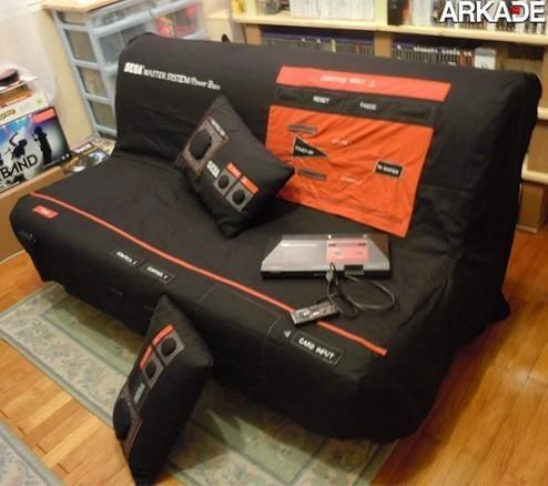 sega master system sofa 11 Da série #euquero: uma capa para sofá de Master System!