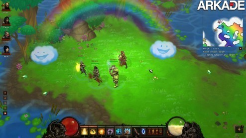 arIOk1 Encontrado o cow level de Diablo III, com arco íris e unicórnios