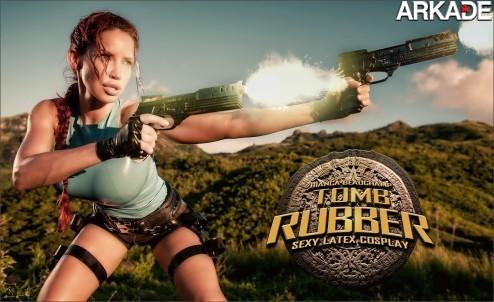 bianca beauchamp tomb rubber 011 Um cosplay epicamente sexy de Lara Croft com roupa de latex