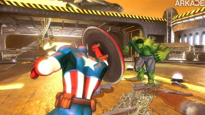 capt vs hulk 040620121 Marvel: veja o gameplay do MMO Marvel Heroes e do novo game dos Vingadores
