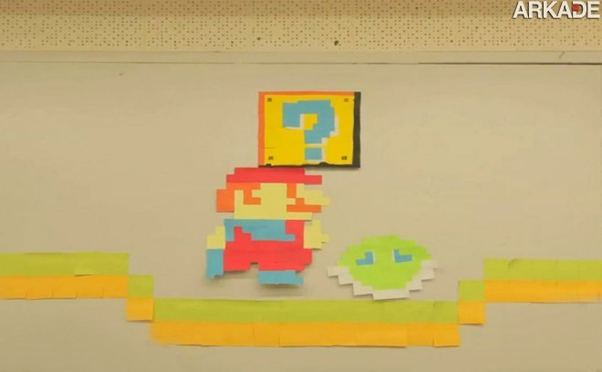 Incrível animação stop motion homenageia games clássicos com papéis de anotação
