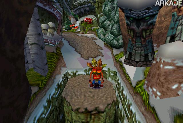 Crash masked Personagem   Crash Bandicoot, o quase mascote trapalhão da Sony