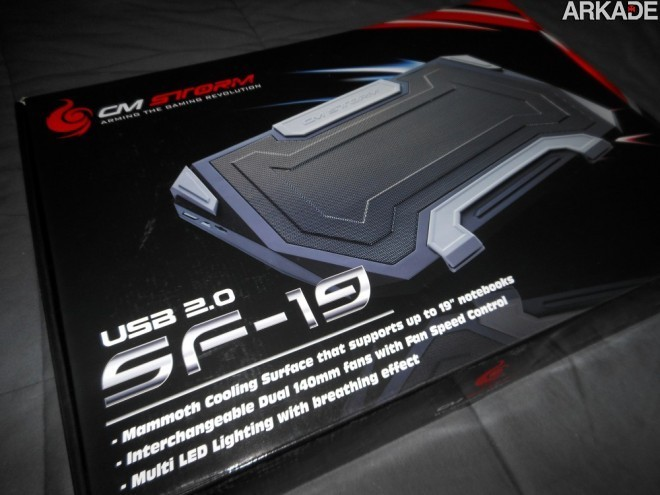 Análise de Hardware: Base gamer para Notebook CM Storm SF-19
