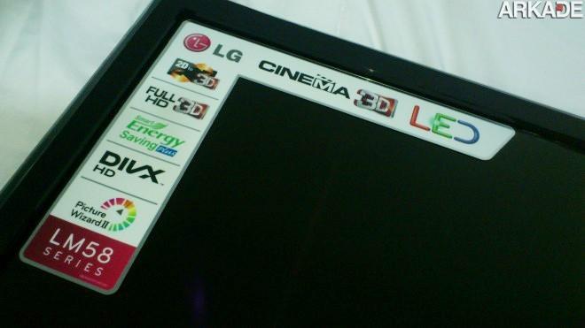 DSC 0739 Análise de Hardware: TV Full HD 3D LG LM5800   Uma TV com excelente custo benefício para gamers