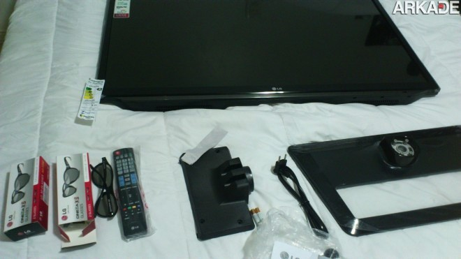 DSC 0740 Análise de Hardware: TV Full HD 3D LG LM5800   Uma TV com excelente custo benefício para gamers