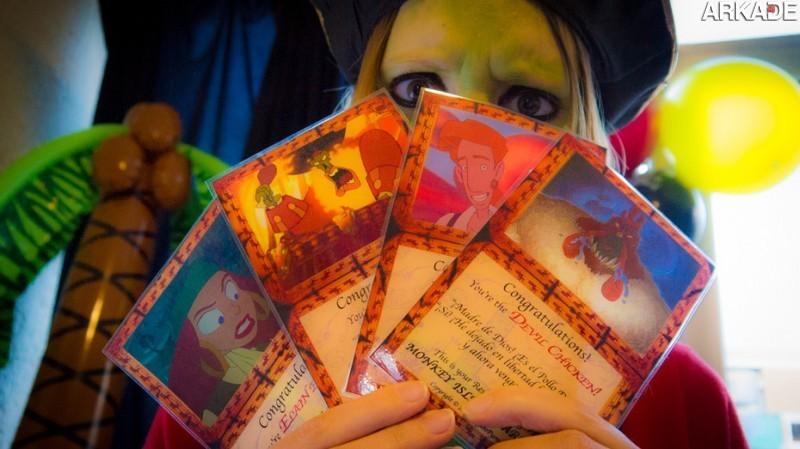 Que tal montar um card game artesanal do clássico Ilha dos Macacos?