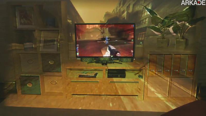 Protótipo da Microsoft promete expandir seus games para fora da TV