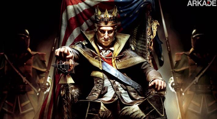 Assassin's Creed III: DLC The Tyranny of King Washington chega em 19 de fevereiro