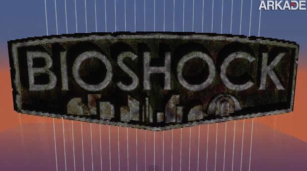 Fãs recriam a obscura Rapture de Bioshock dentro de Minecraft