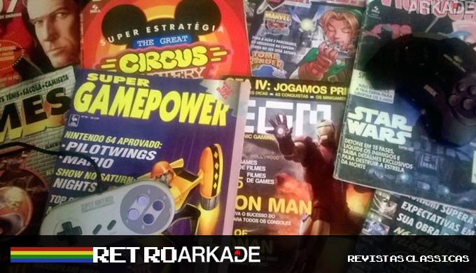 RetroArkade: hora de relembrar as revistas clássicas, com suas dicas, golpes e detonados!