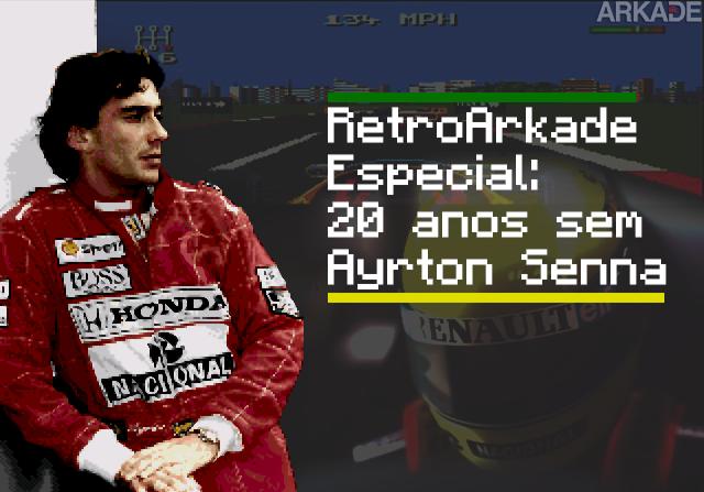 RetroArkade Especial Ayrton Senna: o tri-campeão mundial também fez história nos games!