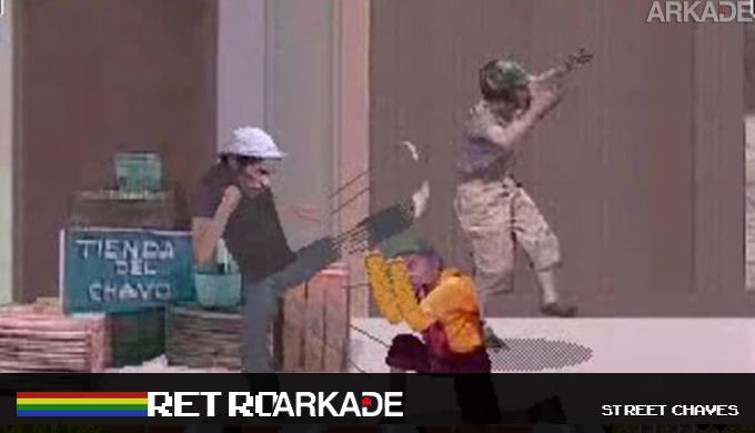 """RetroArkade: Já faz dez anos que jogamos Street Chaves, o """"melhor"""" jogo do Chaves de todos os tempos!"""
