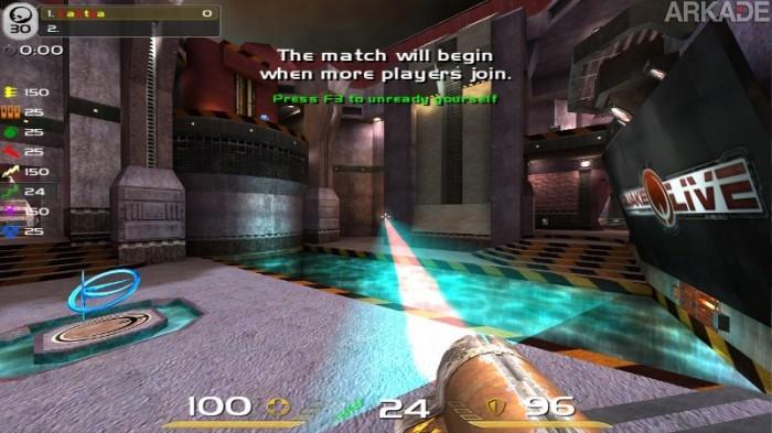 Quake Live está chegando ao Steam e quer ampliar seu público