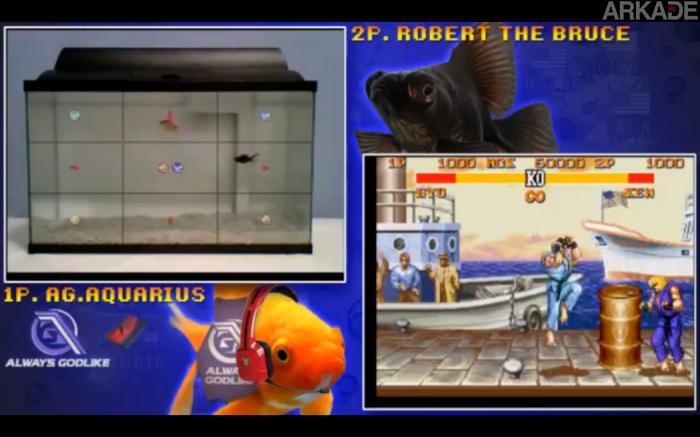 """Neste exato momento dois peixes estão jogando Street Fighter 2. Assista ao vivo o """"combate"""""""