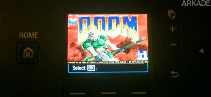 Agora é hora de jogar Doom em uma impressora