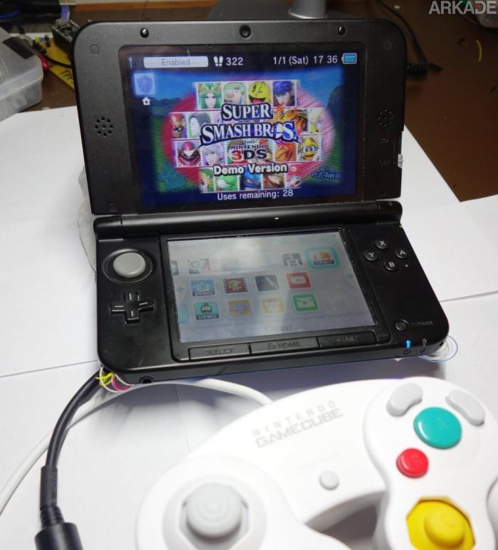 Conseguiram conectar um controle de GameCube no 3DS