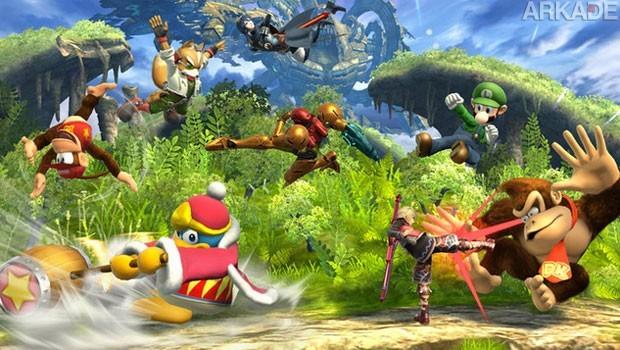 A pancadaria fica ainda melhor em Super Smash Bros. com a confirmação de oito jogadores simultâneos e o Mewtwo!